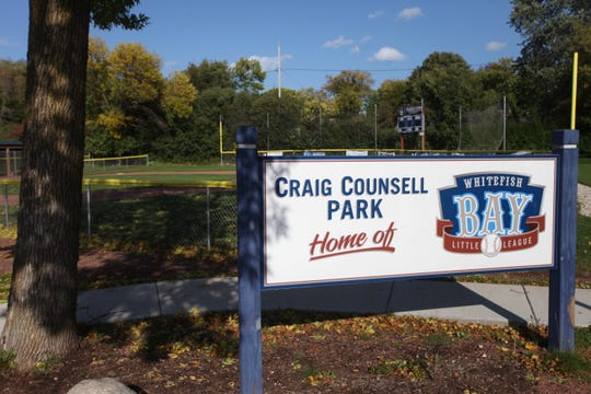 Craig Counsell Park in Whitefish Bay is host to the town's Little League baseball games.