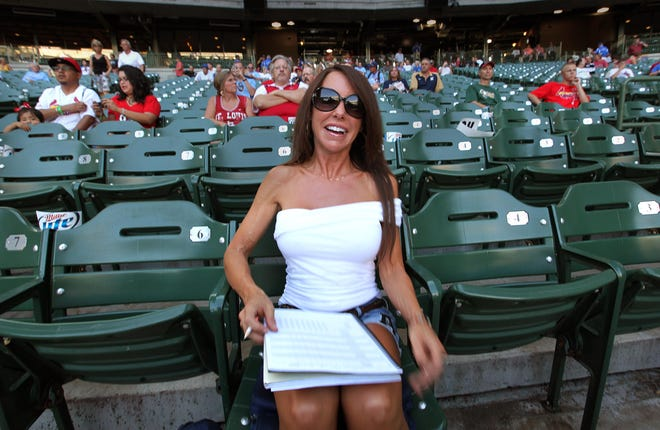 Amy Williams, a.k.a. Front Row Amy,  is an avid Milwaukee Brewers fan and sits right behind home plate at most home games at Miller Park.