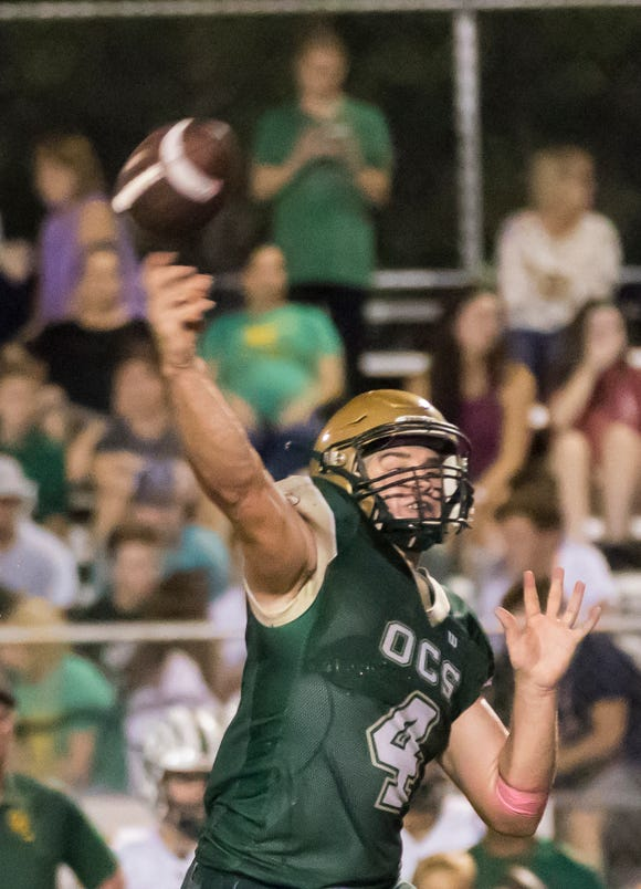 OCS quarterback Turner Carr (4) has moved into the program's Top-15 in passing yards (1,991) and passing touchdowns (23) this season.