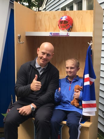 Make-a-Wish N.J. and Garden of Dreams Foundation build N.Y. Rangers-themed clubhouse, locker in Landing backyard