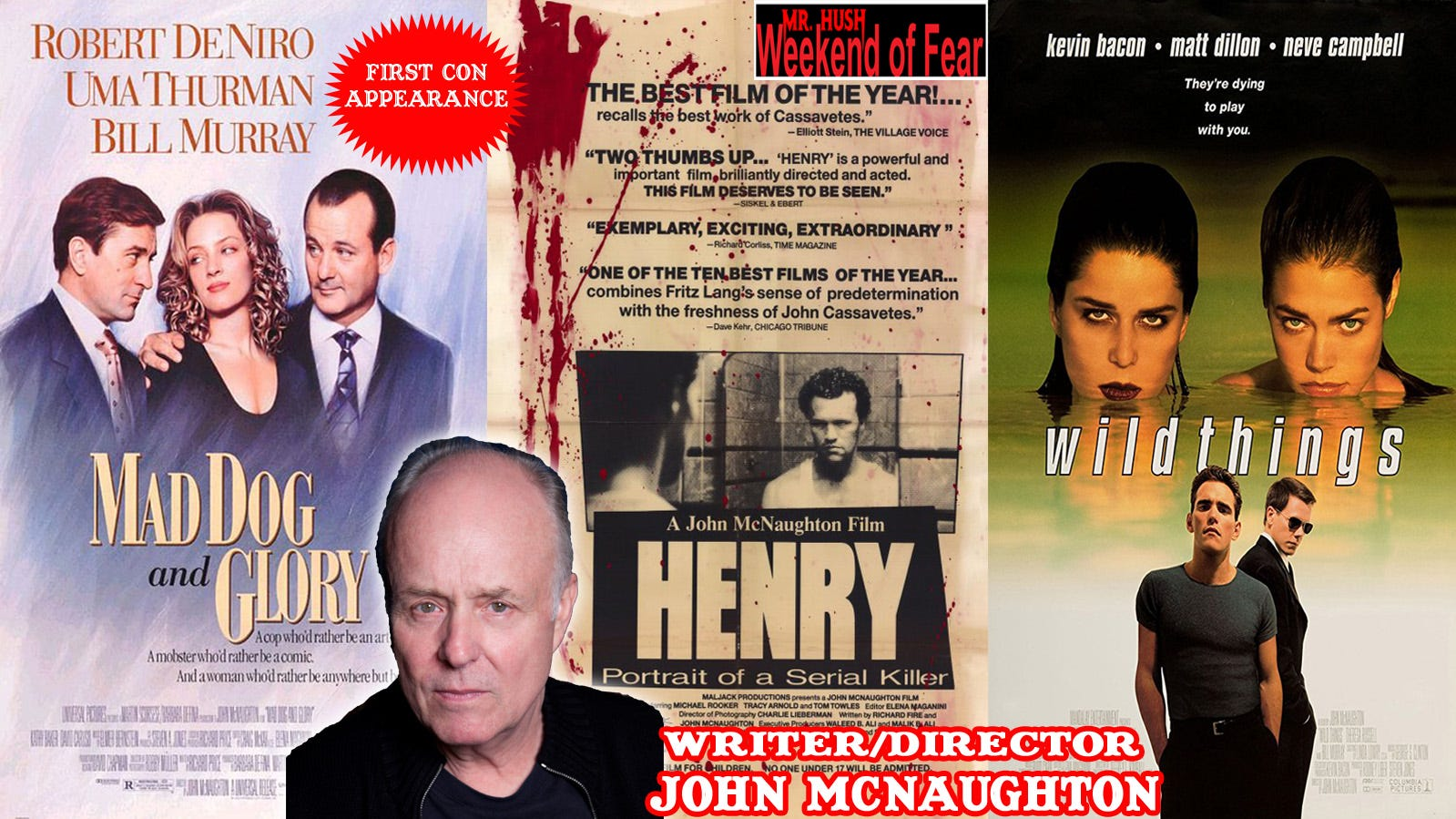 """Director John McNaughton, who made his name with the psychological horror film """"Henry: Portrait of a Serial Killer,"""" is one of the guests who will attend the Mr. Hush Weekend of Fear at Wild West City in Byram Township from October 19 through 21.  In addition to celebrities from the worlds of horror and sci-fi, the event includes such family-friendly attractions as zombie cowboys, a haunted train ride, and a Halloween costume parade."""
