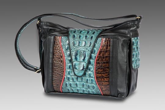 This leather handbag is among the many crafts available at the 42nd Annual Morristown CraftMarket, sponsored by the Kiwanis Club of Randolph.  The fair, which also offers fine art pieces, returns to the Morristown Armory from Friday, October 19, through Sunday, October 21.