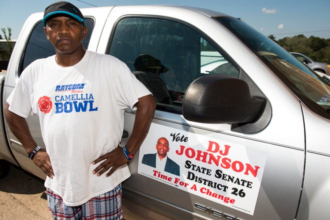 DJ Johnson, candidate for State Senator District 26, pose for a portrait at McIntyre Community Center in Montgomery, Ala., on Friday, Oct. 5, 2018.