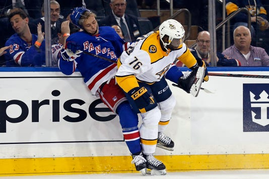 Nhl Nashville Predators At New York Rangers