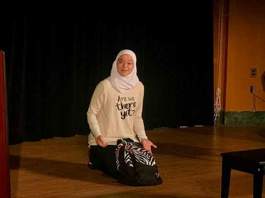 "Sara Abou Rashed performs ""A Map of Myself"" at Denison University."