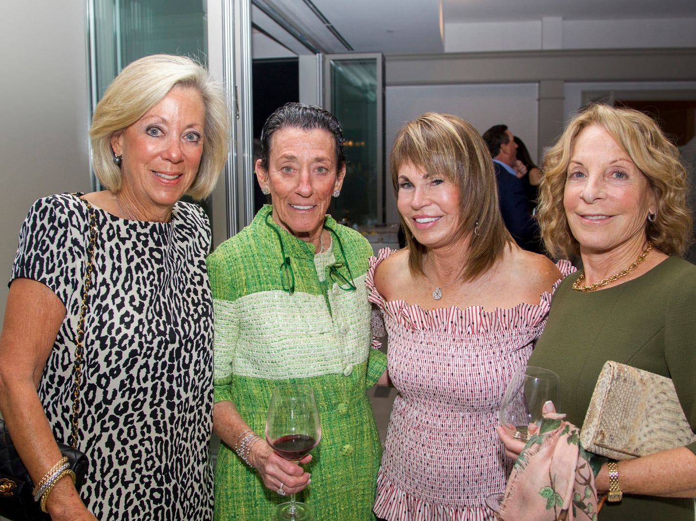 "Lynn Schonvrsun,Henni Kessler, Yael Morris, Linda Schupper. Edgewood Country Club, in partnership with Golf Kitchen magazine, host the ""Golf Kitchen/Edgewood Fine Dining Soirée and Golf Kitchen Culinary Excellence Awards."" 10/04/2018"
