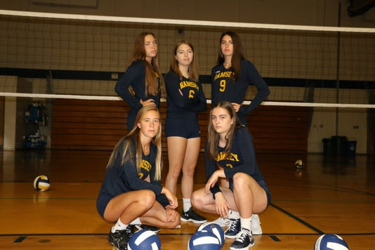Ramsey girls volleyball seniors