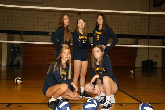 Ramsey girls volleyball seniors
