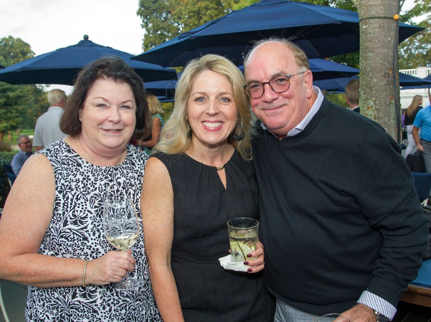 Peg Smith, Maria Bushman, Kevin Mulligan. Institute for Educational Achievement held its 23rd annual Golf Classic at Hackensack Golf Club in Oradell. 10/01/2018