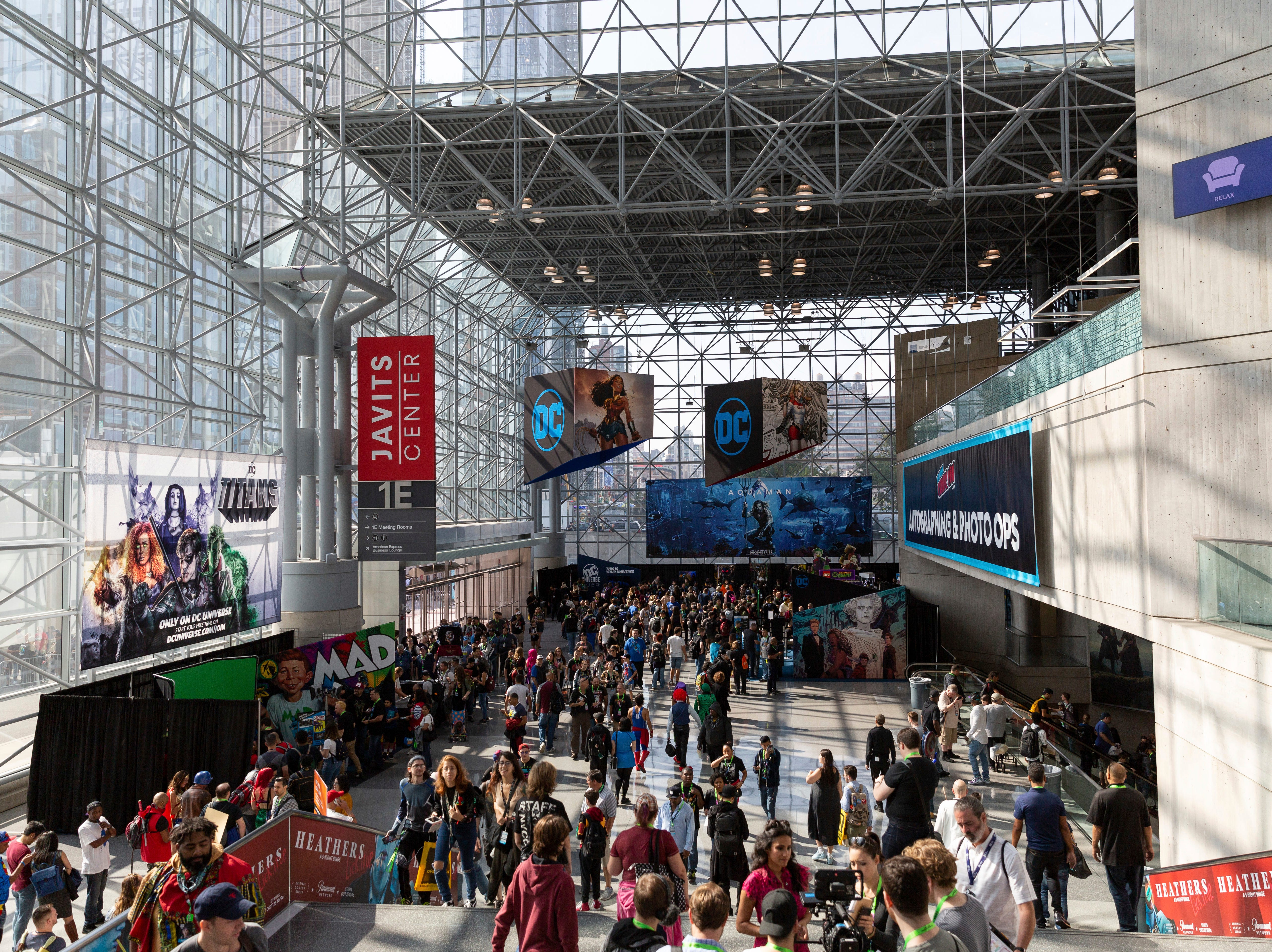 A general view of the Javits Center during the first day of New York Comic Con, Thursday, Oct. 4, 2018. (AP Photo/Steve Luciano)