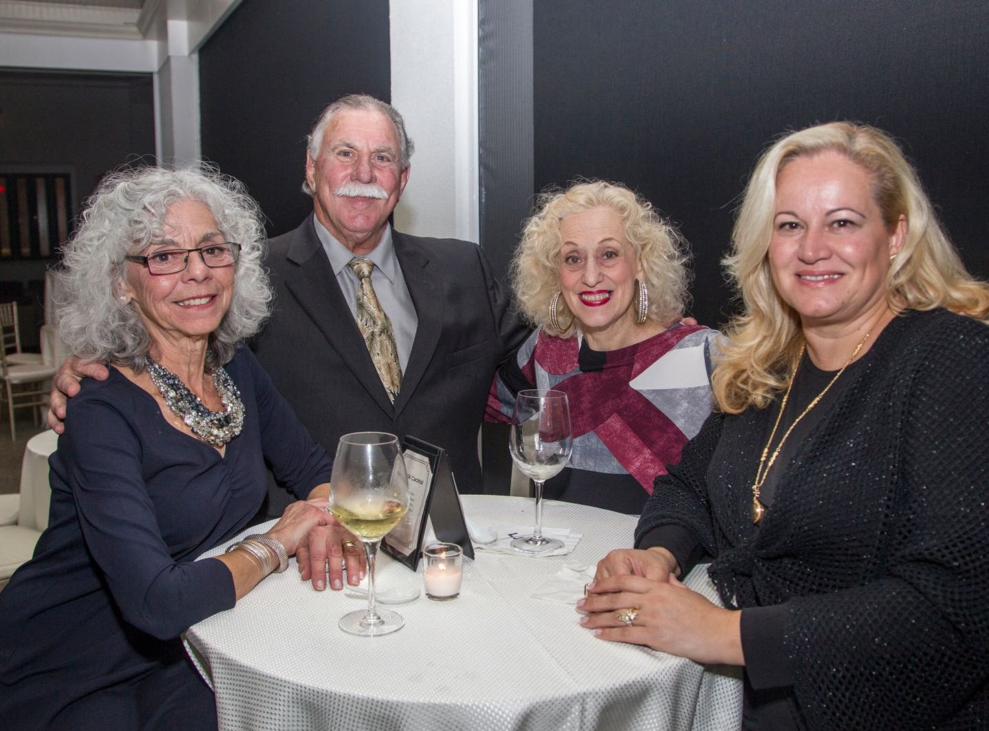 "Flo Nestor, Bill Nestor, Claire Gaines, Fotiani Allteni. Edgewood Country Club, in partnership with Golf Kitchen magazine, host the ""Golf Kitchen/Edgewood Fine Dining Soirée and Golf Kitchen Culinary Excellence Awards."" 10/04/2018"