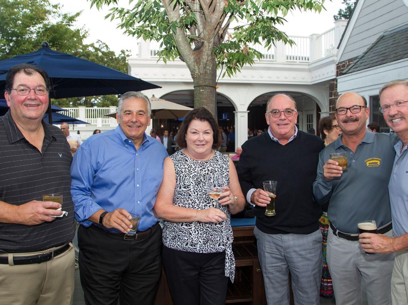 Len Smith, Frank Lento, Peg Bushman, Kevin Mulligan, Mark Kanian, Chros Duffy. Institute for Educational Achievement held its 23rd annual Golf Classic at Hackensack Golf Club in Oradell. 10/01/2018