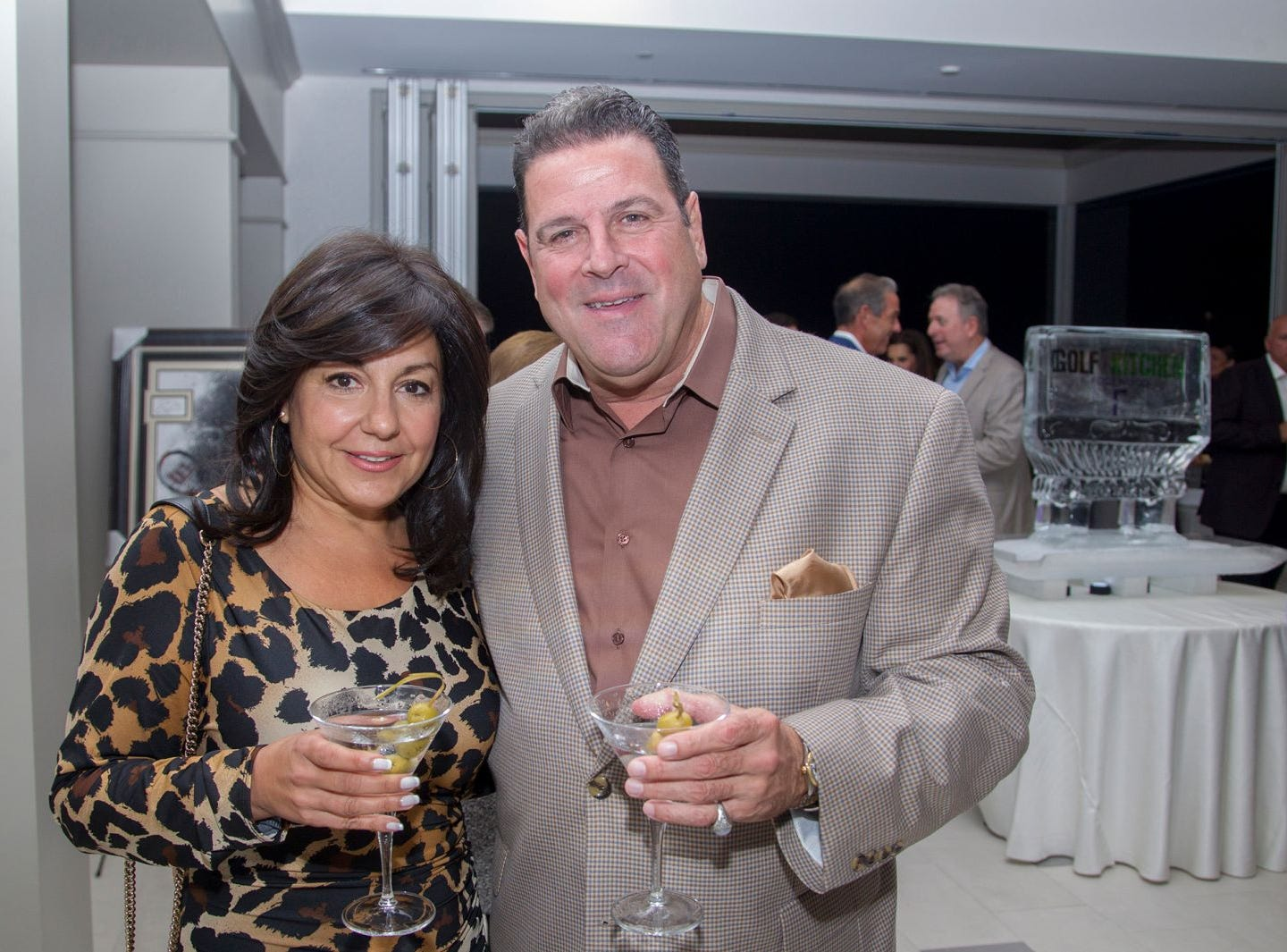 "Michele and Michael Silviano. Edgewood Country Club, in partnership with Golf Kitchen magazine, host the ""Golf Kitchen/Edgewood Fine Dining Soirée and Golf Kitchen Culinary Excellence Awards."" 10/04/2018"