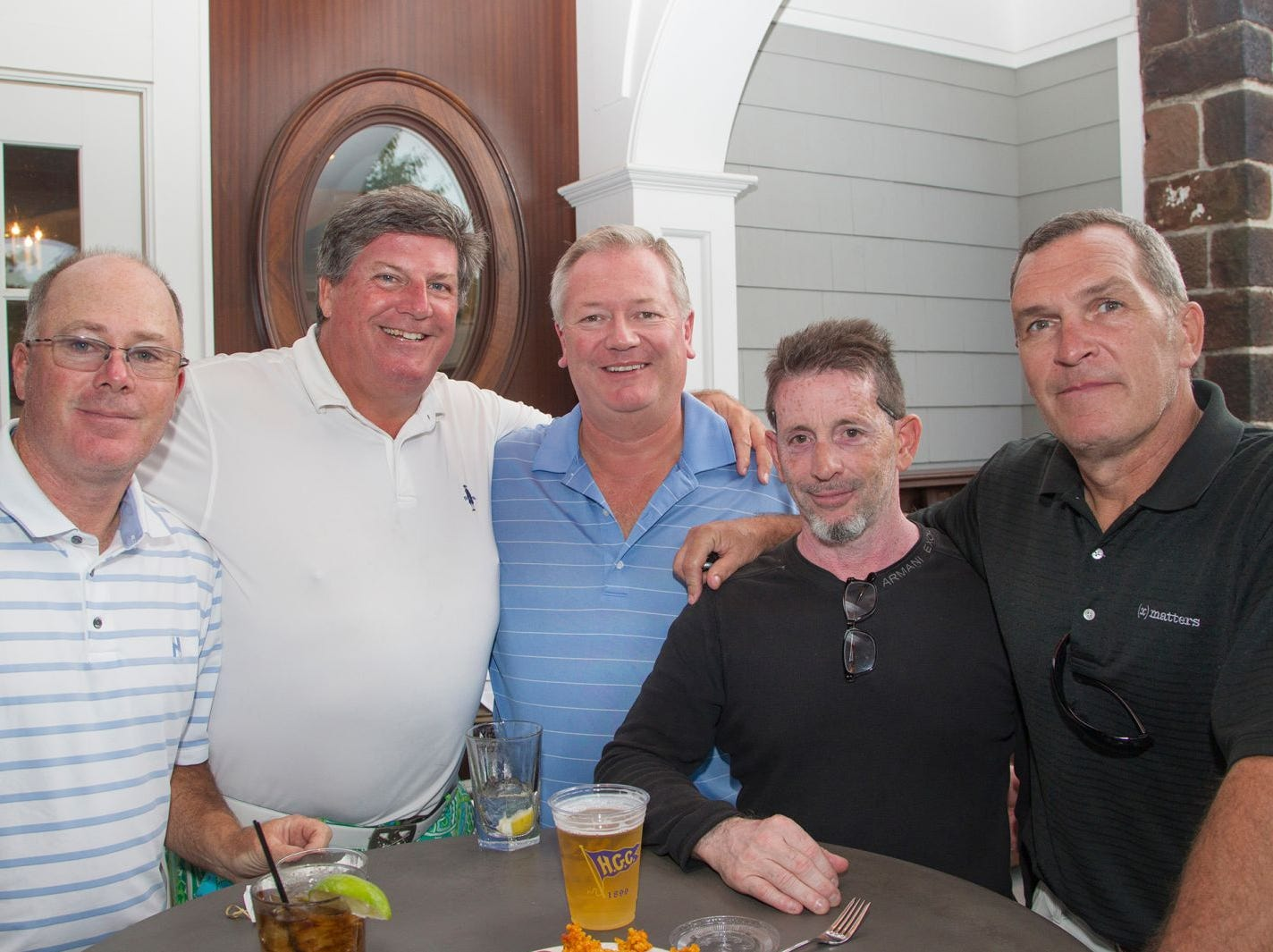 James Ferrca, Michael Sean McGeary, Simon Webb, Guy Coriano, Jimmy Monahan. Institute for Educational Achievement held its 23rd annual Golf Classic at Hackensack Golf Club in Oradell. 10/01/2018
