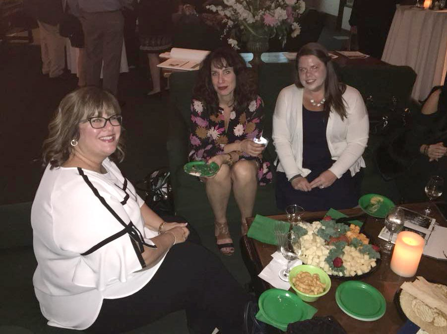 Leslie Martin Bazzino, Stacy Petriello, Theresa Lanz. Rebuilding Together North Jersey's 20th anniversary celebration honoring the junior league and boiling springs bank at the Hamilton club in Paterson. 09/27/2018
