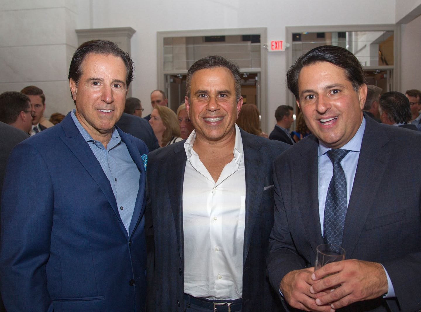 "Pascal Coffeee Group - Dean Pialtos, Dr. Jeff Pavell, Charles Pialtos. Edgewood Country Club, in partnership with Golf Kitchen magazine, host the ""Golf Kitchen/Edgewood Fine Dining Soirée and Golf Kitchen Culinary Excellence Awards."" 10/04/2018"