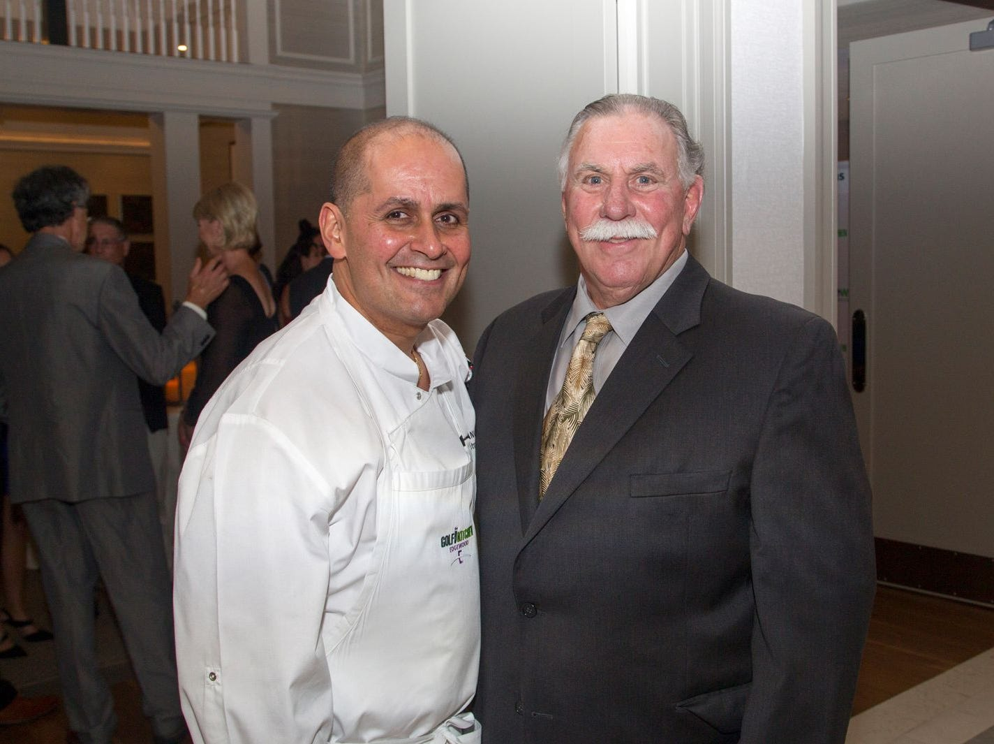 "Chef Anthony Villaneueva and Giuillermo Nestor. Edgewood Country Club, in partnership with Golf Kitchen magazine, host the ""Golf Kitchen/Edgewood Fine Dining Soirée and Golf Kitchen Culinary Excellence Awards."" 10/04/2018"