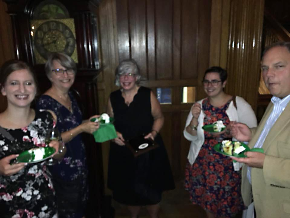 Julie Buckingham, Lynn Buckingham, Gretchen Viggiano, Megan Hartmann, Greg Viggiano. Rebuilding Together North Jersey's 20th anniversary celebration honoring the junior league and boiling springs bank at the Hamilton club in Paterson. 09/27/2018