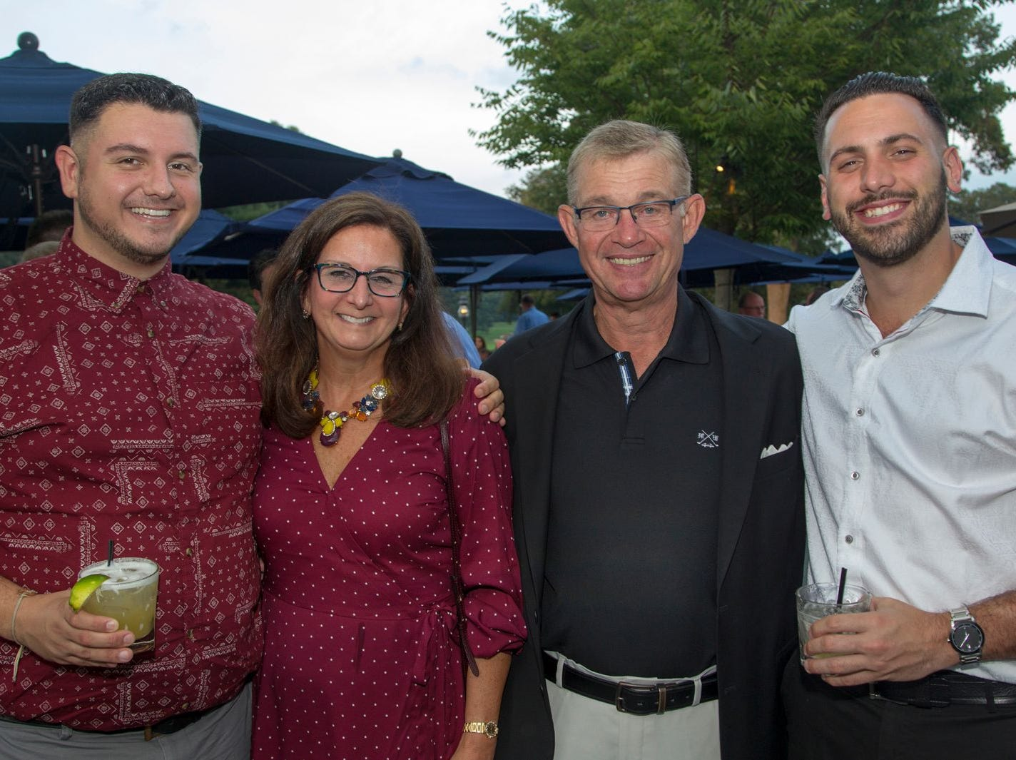 Dan Salerno, Joanne Salerno, Frank Salerno, Joey Unrein. Institute for Educational Achievement held its 23rd annual Golf Classic at Hackensack Golf Club in Oradell. 10/01/2018