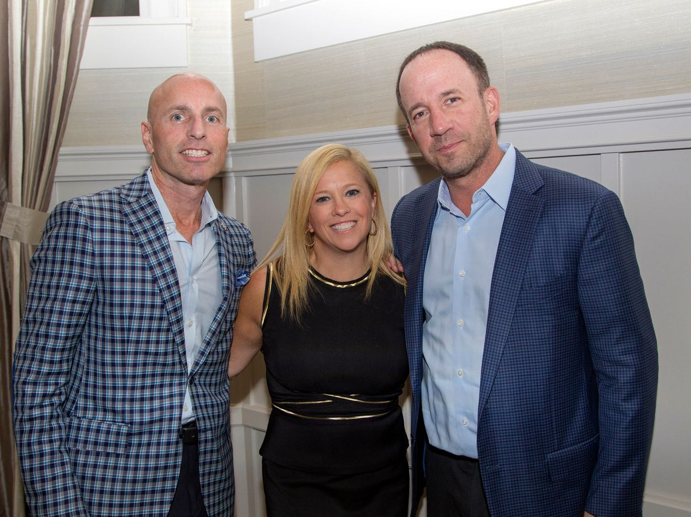 "Kyle Lepack, Jennifer and Larry Sweetwood. Edgewood Country Club, in partnership with Golf Kitchen magazine, host the ""Golf Kitchen/Edgewood Fine Dining Soirée and Golf Kitchen Culinary Excellence Awards.""  10/04/2018"