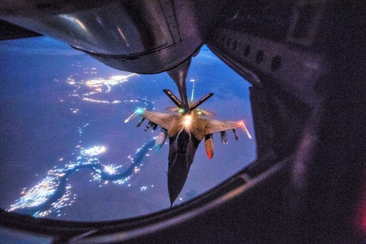 F-16 Night Mission Over Iraq