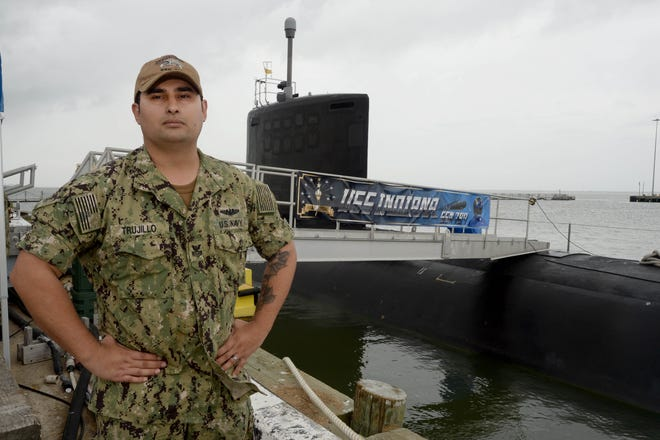 Petty Officer First Class Tino Trujillo is a submarine yeoman serving aboard the Norfolk, Virginia, based submarine.
