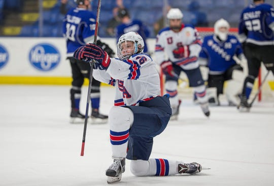 Defenseman Alex Vlasic is one of many Team USA players on the radar of NHL scouts this season.