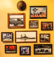 The walls at MISSION BBQ are a tribute to those who serve.