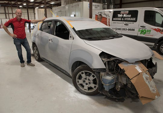 The Pontiac Vibe has some needs, but will soon be a creampuff. David Ellis's collision shop will handle the exterior and Downtown Garage will fix the mechanicals.