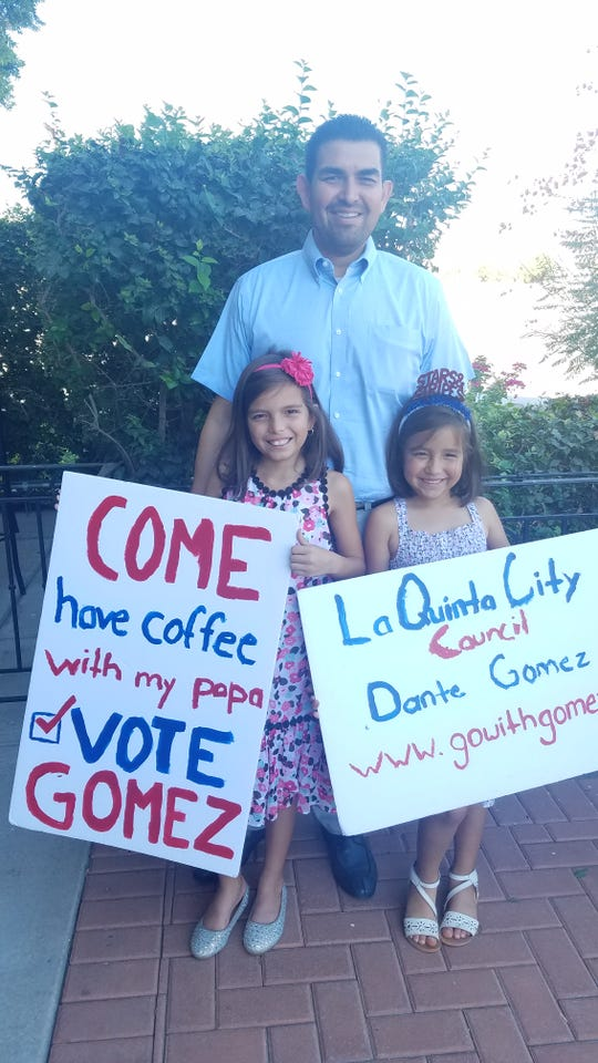 Dante Gomez and his daughters