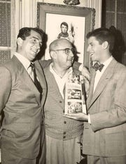 Dean Martin, Norman Taurog and Jerry Lewis c. 1957