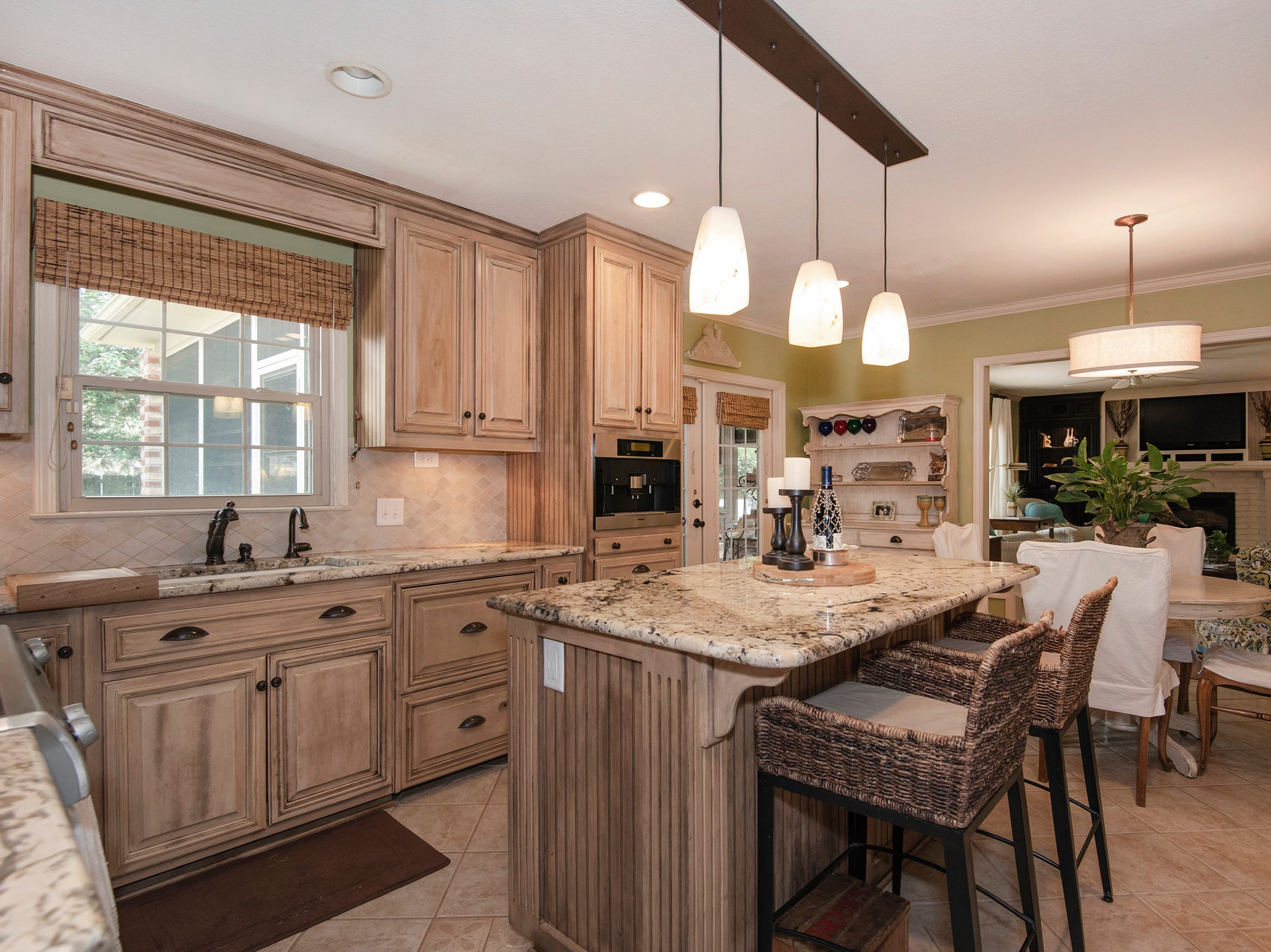 2625 Tambridge Circle, the open kitchen with bar seating.