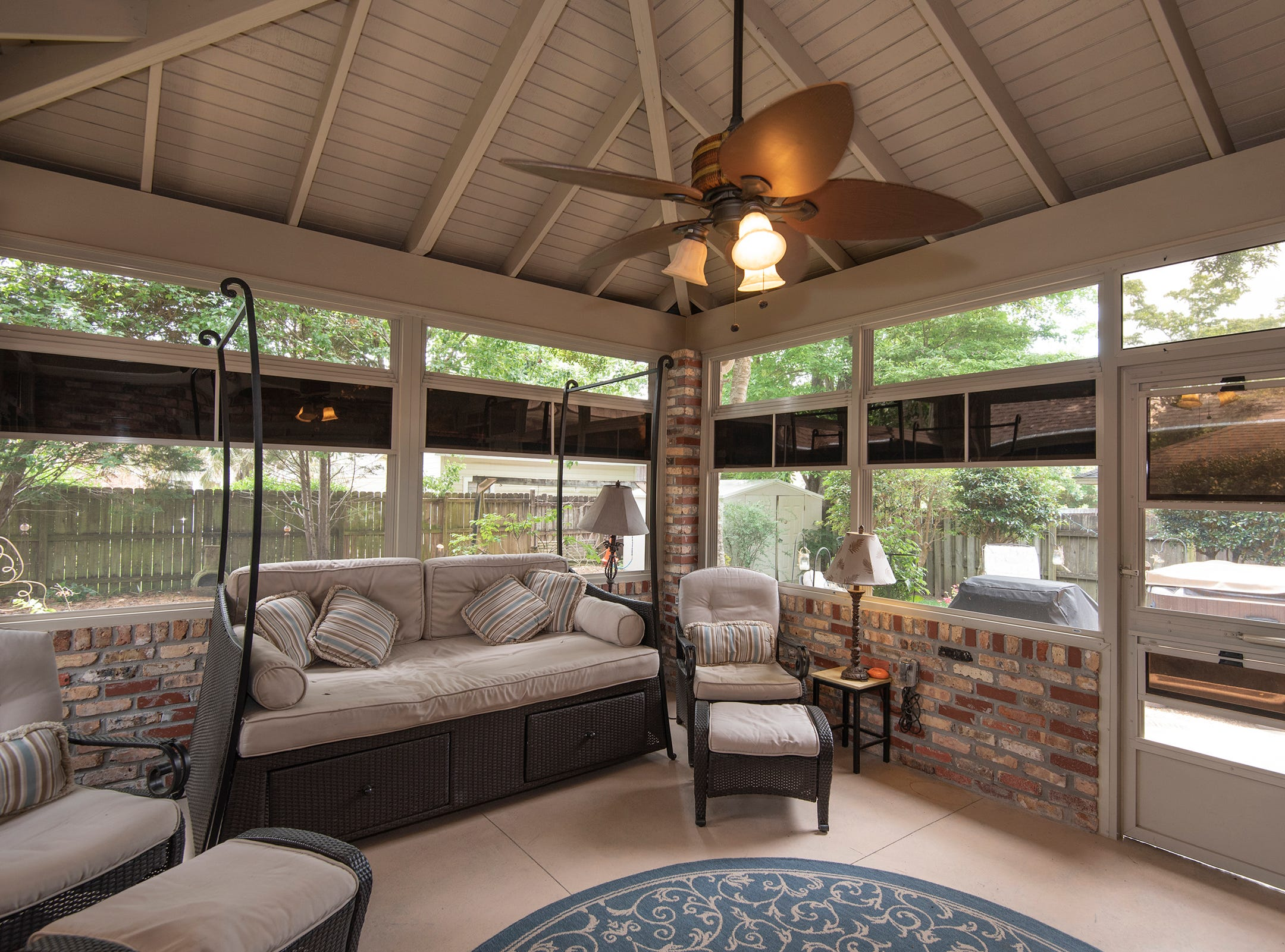 2625 Tambridge Circle, the relaxing screen enclosed patio.
