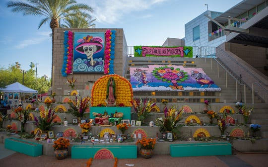 The Mesa Arts Center held Dia De Los Muertos festivities.