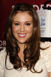 Actress Alyssa Milano used her Twitter account to postmessages from constituents of Jeff Flake his fellow U.S. senators.