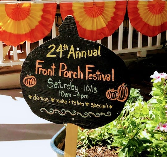 Historic Downtown Glendale shops and restaurants will offer autumn-themed items, foods and discounts during the 24th annual Front Porch Festival.
