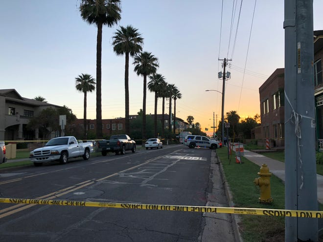 Phoenix police were investigating a shooting that left one man dead and another man wounded near 300 W. Roosevelt St. early Friday morning.