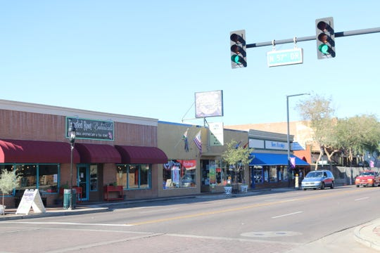 Shops in downtown Glendale.
