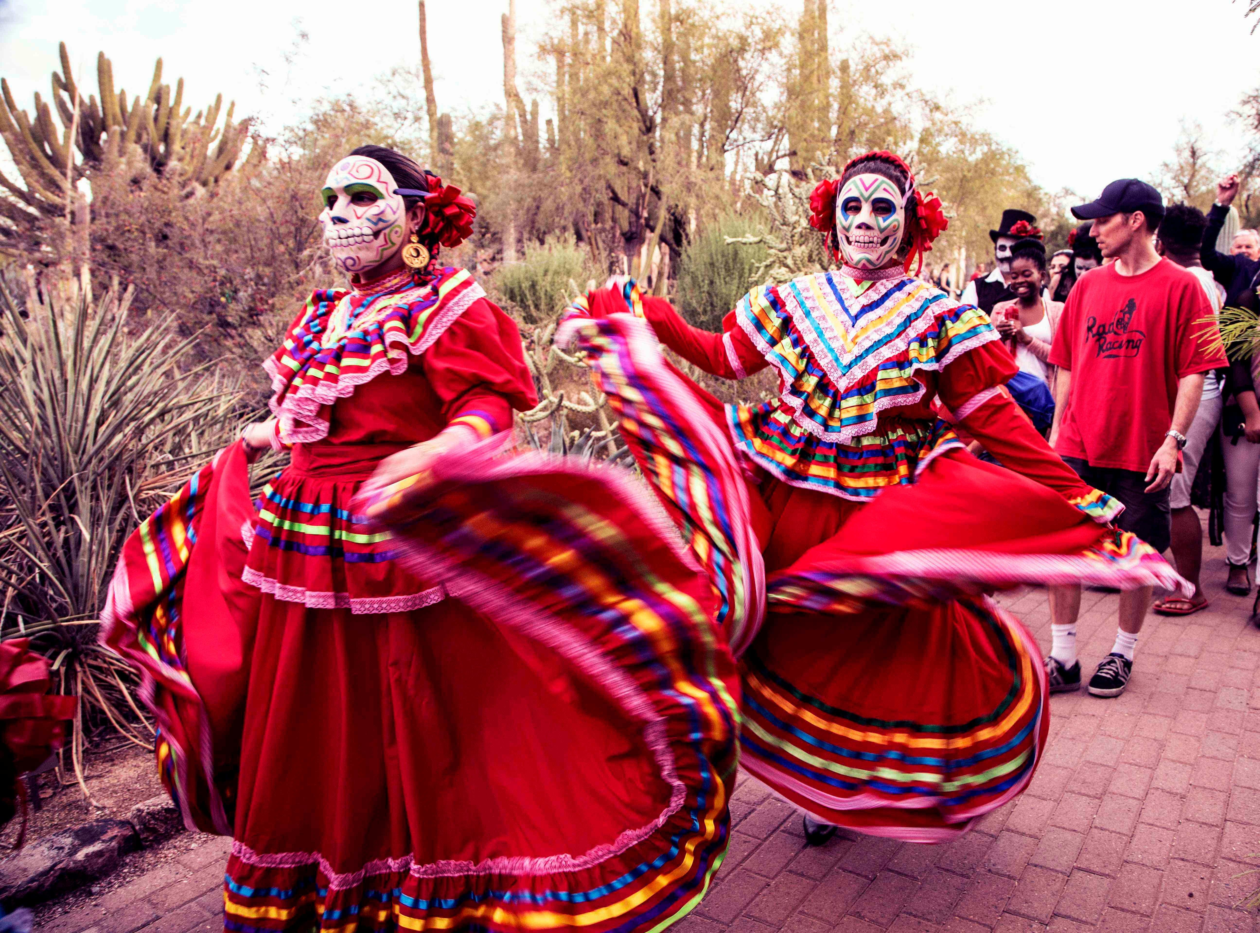 Dia de los Muertos festivities at the Desert Botanical Garden.