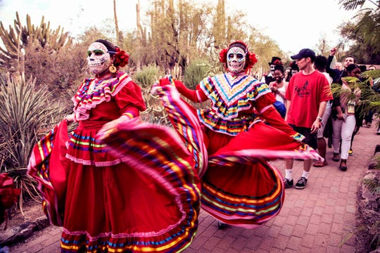Dia de los Muertos festivities at the Desert Botanical Garden.