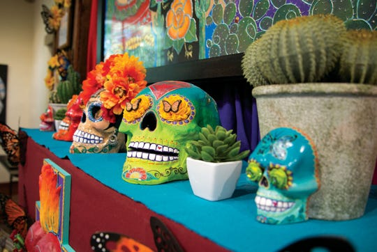 A closer look into an ofrenda at the Chiles, Chocolates and Day of the Dead event at Tohono Chul.