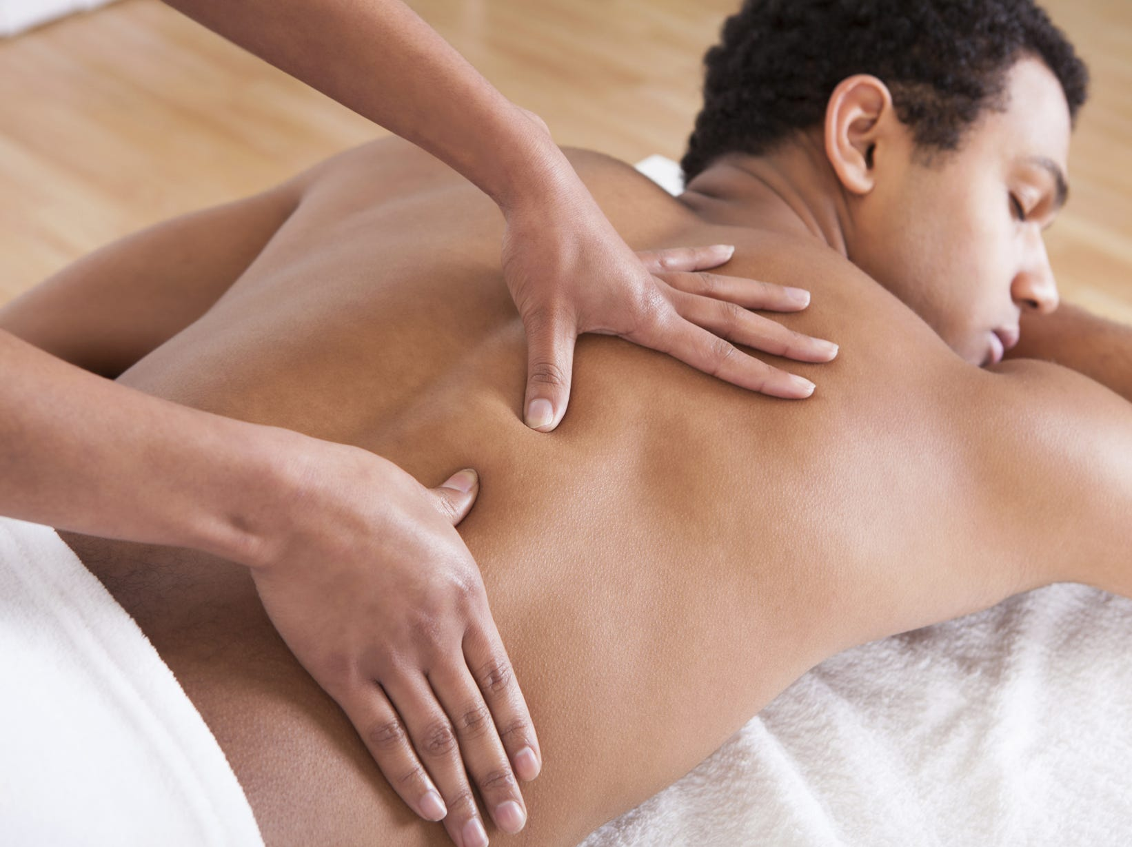 Massage away holiday stress.