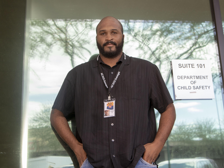 David Watson, one of the AZ DCS Oversight Group outside Mesa DCS office.