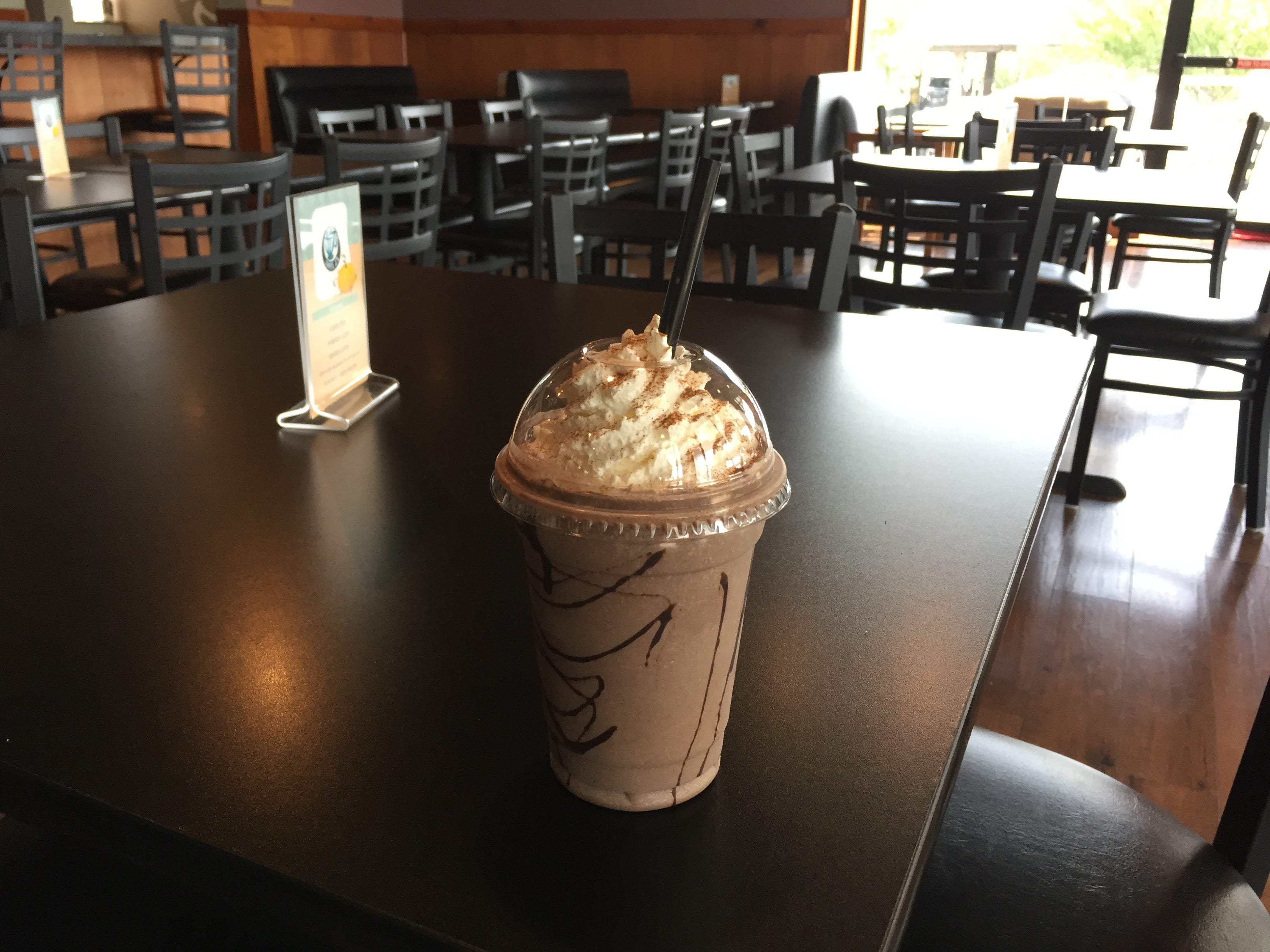 If you have a sweet tooth, you need to try the pumpkin-Oreo frappe (pictured). 3J's also offers a pumpkin cold brew, pumpkin latte, s'mores latte and cider chai at its large coffeehouse.