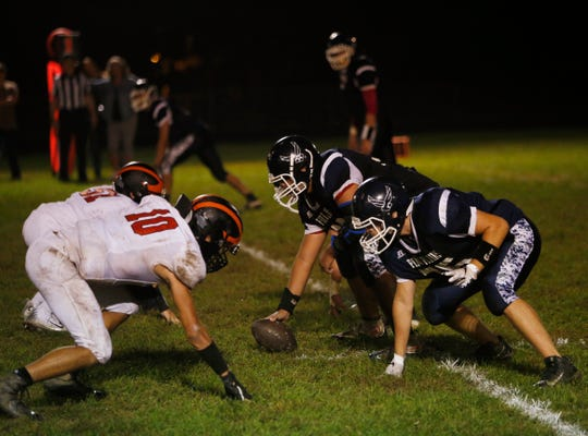 Action from Thursday's game between Pine Plains and Dover at Stissing Mountain High School on October 4, 2018.