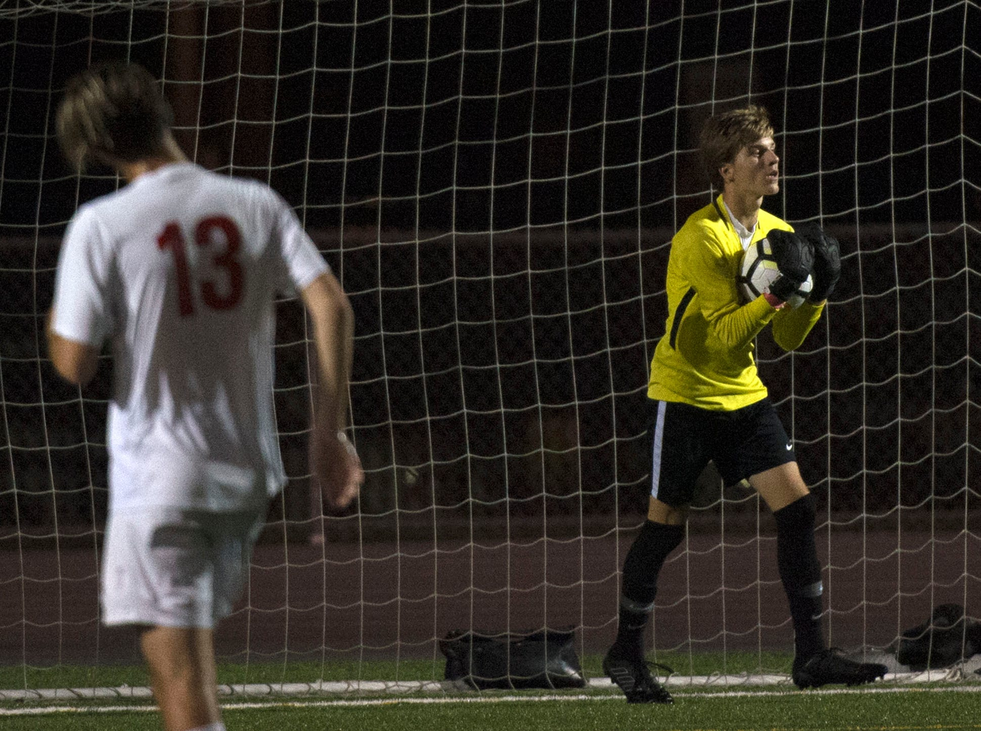 Chambersburg hosted Cumberland Valley in PIAA soccer on Thursday, Oct. 4, 2018, but dropped a 2-1 match in double overtime.