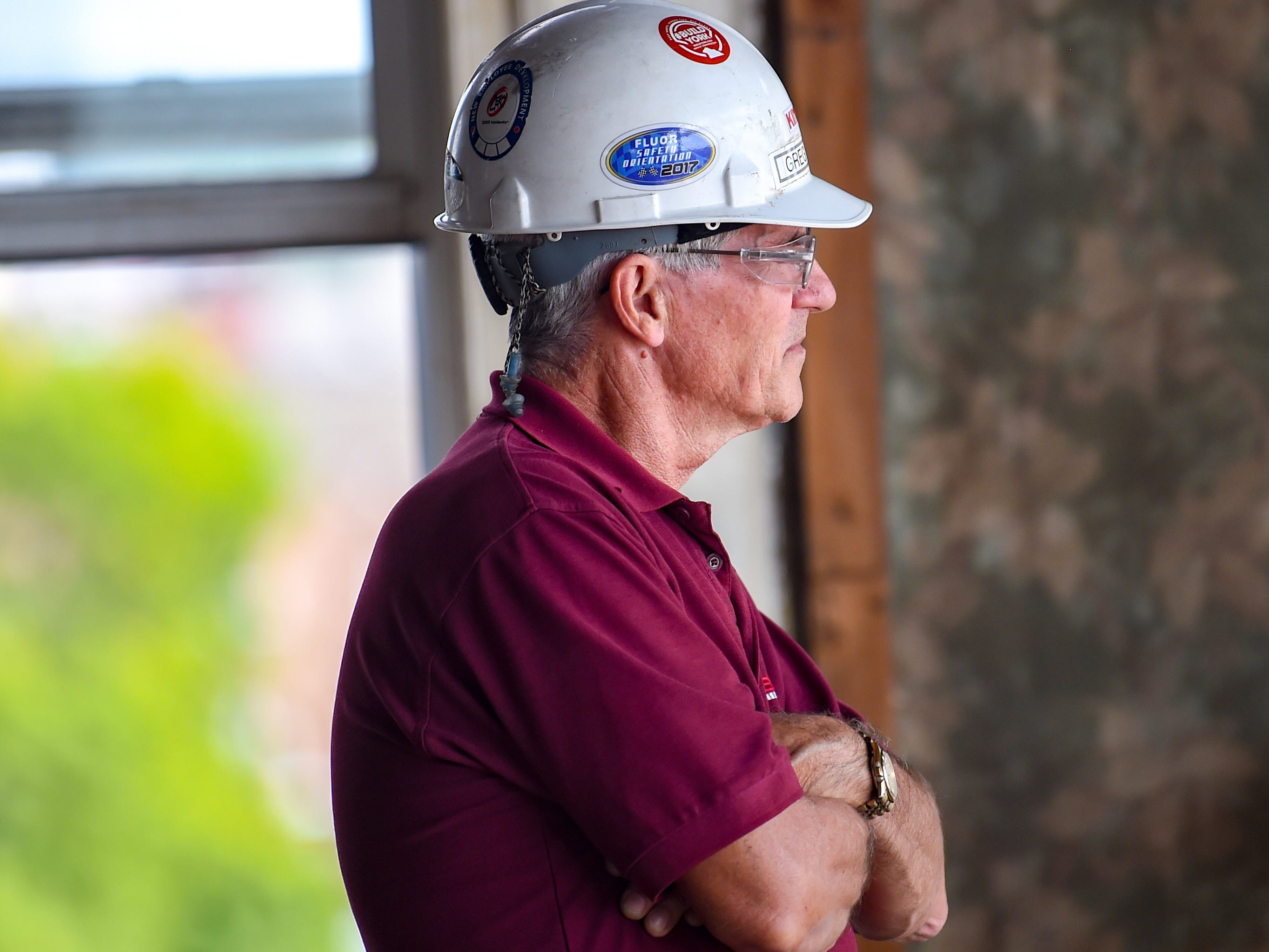Safety supervisor Greg Hagan makes sure everything is running smoothly at the Yorktowne Hotel on October 4, 2018.