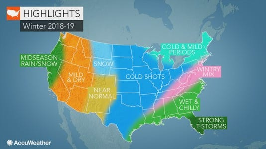 Accuweather Winter Map