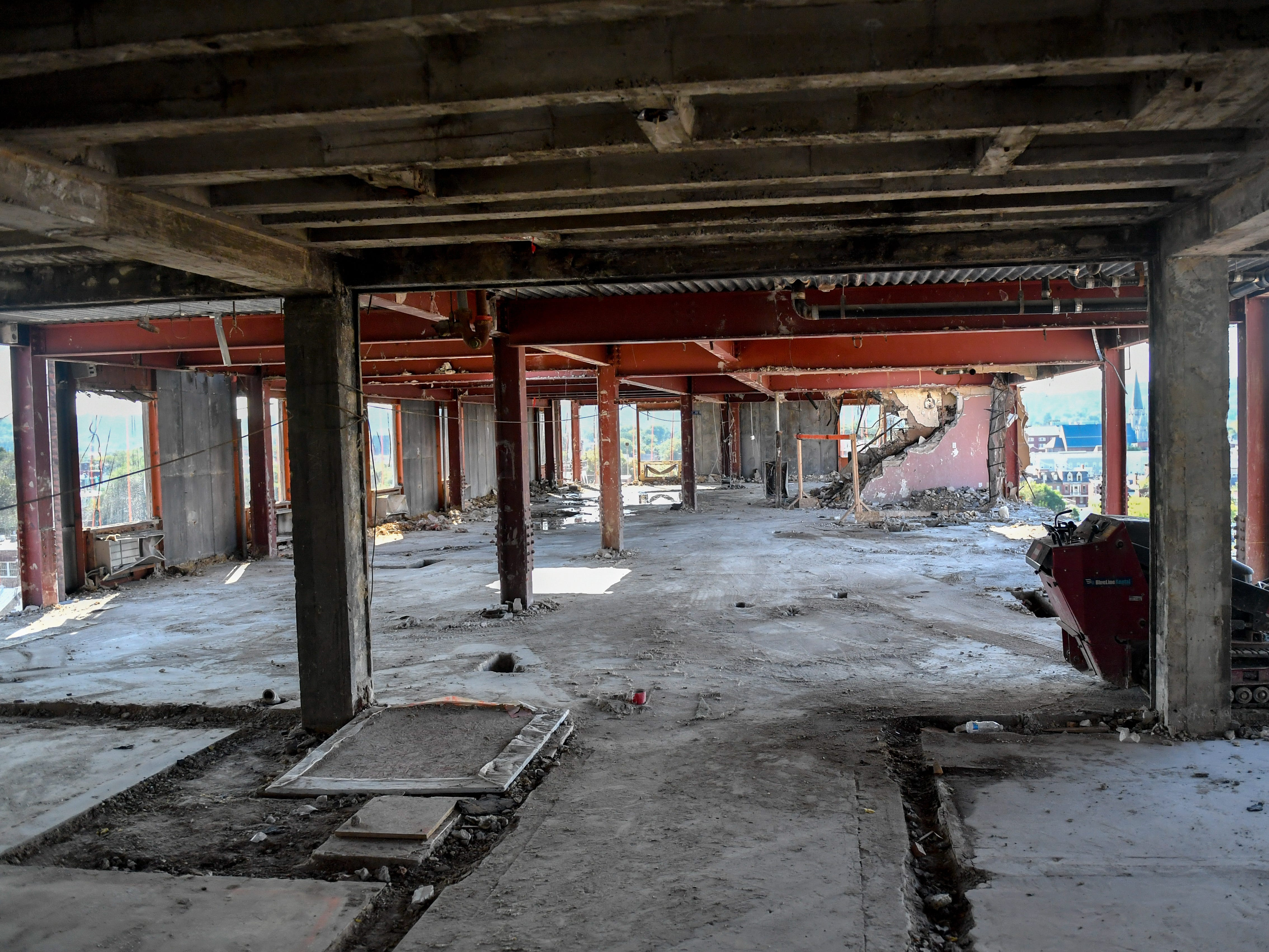 All the floors of the Yorktowne Hotel are gutted just like the seventh floor on October 4, 2018.