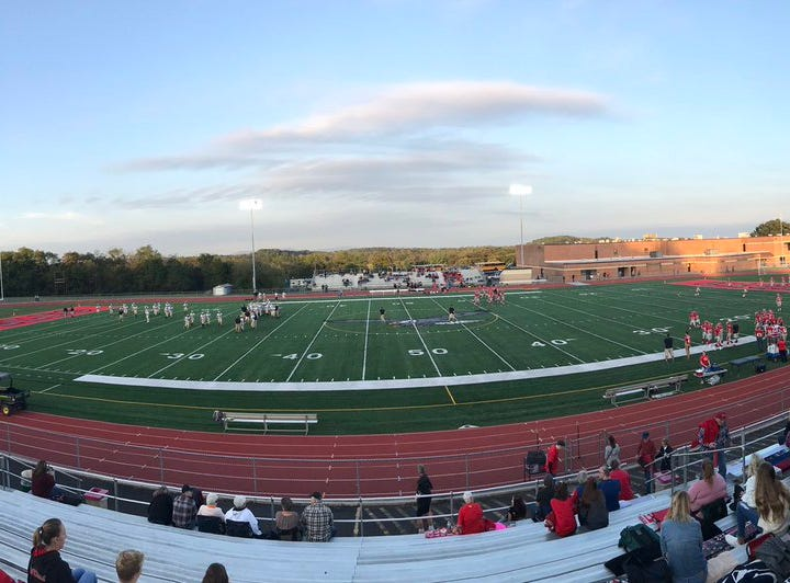 There was barely a cloud in the sky as Bermudian Springs prepared to take on Hanover Friday night.
